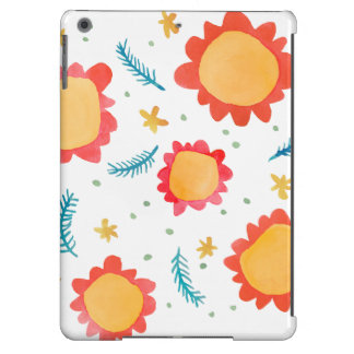 Painted Flowers orange iPad Air Barely There Case Case For iPad Air
