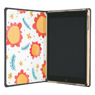 Painted Flowers orange iPad Air DODOcase Cover For iPad Air