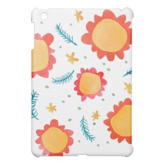 Painted Flowers orange Savvy Matte iPad Mini Case