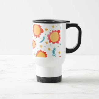 Painted Flowers orange Travel/Commuter Mug