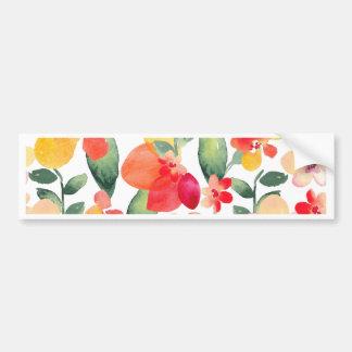 Painted Flowers Pattern Bumper Sticker