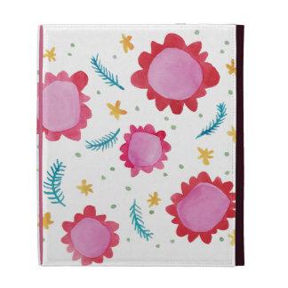 Painted Flowers red Caseable iPad Folio iPad Folio Case