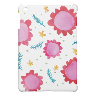 Painted Flowers red Savvy Matte iPad Mini Case