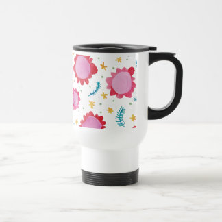 Painted Flowers red Travel/Commuter Mug