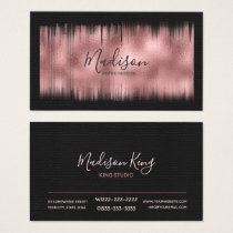 Painted Foil Rose Gold ID522 Business Card