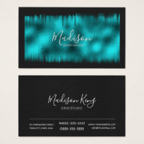 Painted Foil Teal ID522 Business Card
