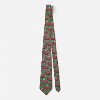 Painted Football Pattern Tie