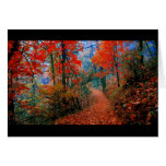 Painted Forest Autumn Flame Watercolor Gifts Greeting Card
