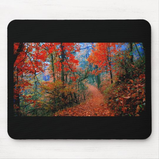Painted Forest Autumn Flame Watercolor Gifts Mouse Pad