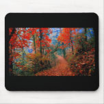 Painted Forest Autumn Flame Watercolor Gifts Mousepads
