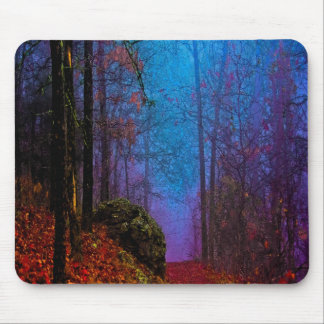 Painted Forest Autumn Purple Fog Mouse Pads