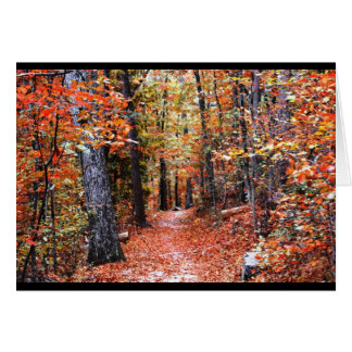 Painted Forest Autumn Trail Watercolor Gifts Card