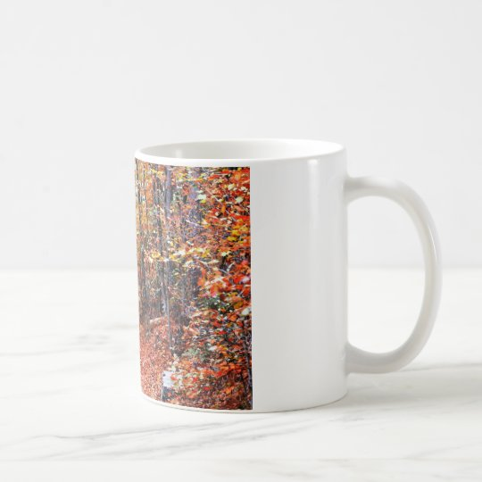 Painted Forest Autumn Trail Watercolor Gifts Coffee Mug