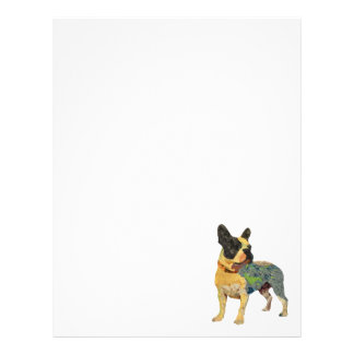 Painted French Bulldog Letterhead