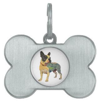 Painted French Bulldog Pet Tag