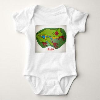 Painted Frog, Ribbit Baby Bodysuit