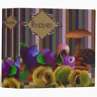 Painted Fruit Recipe Book 3 Ring Binder