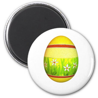 Painted Garden Easter Egg 2 Inch Round Magnet