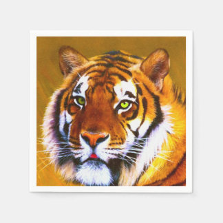 Painted Gazing Tiger Napkins