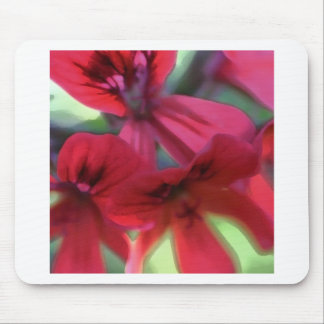 Painted Geraniums Mouse Pad