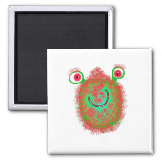 Painted Germ 2 Inch Square Magnet