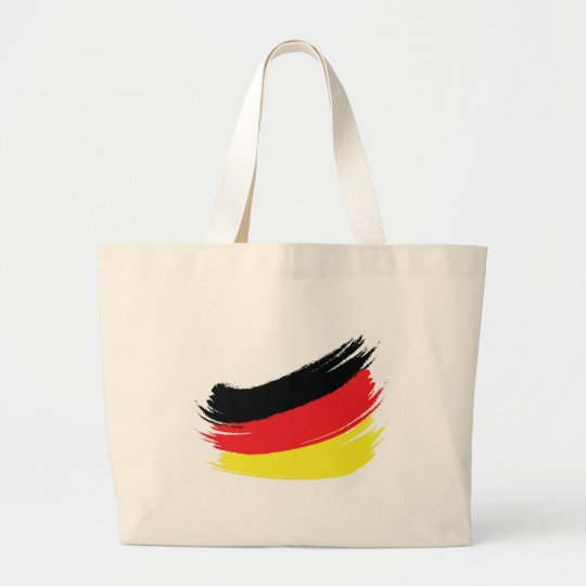 Painted german flag large tote bag