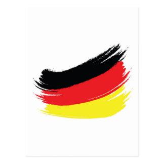 Painted german flag postcard