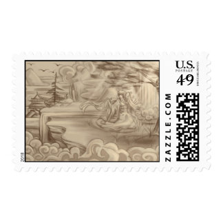 Painted Girl Stamp