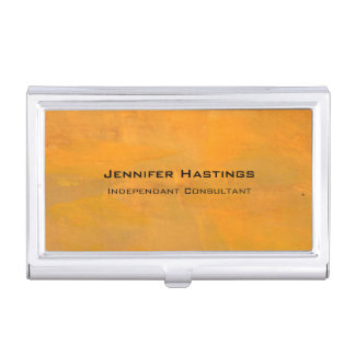 Painted Golden Grunge Abstract Business Card Case