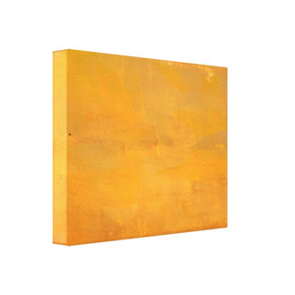 Painted Golden Grunge Abstract Canvas Print