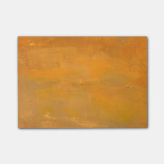 Painted Golden Grunge Abstract Post-it Notes