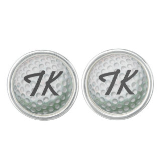 Painted Golf Ball with Name Cufflinks