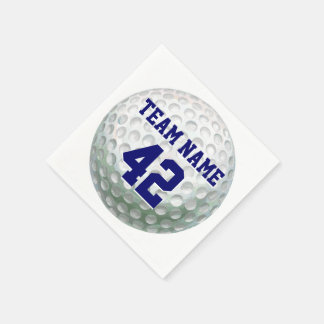Painted Golf Ball with Name Paper Napkin