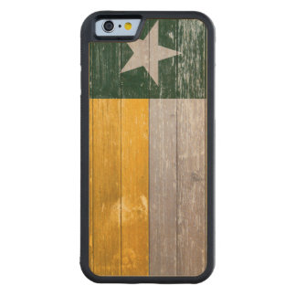 Painted Green and Gold Texas Flag Carved® Maple iPhone 6 Bumper Case