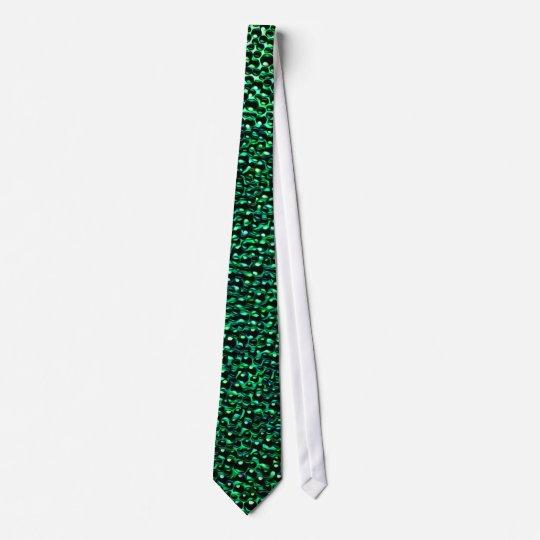 Painted green gems tie