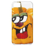 Painted Happy Pumpkin Face iPhone 5C Cases