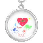 Painted Heart- ART, brings, PEACE Jewelry