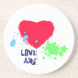 Painted Heart-Love Art Drink Coaster