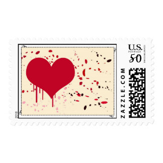 Painted heart - Postage