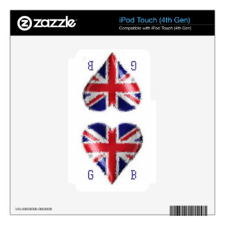 Painted Heart Union Jack iPod Touch 4G Skin