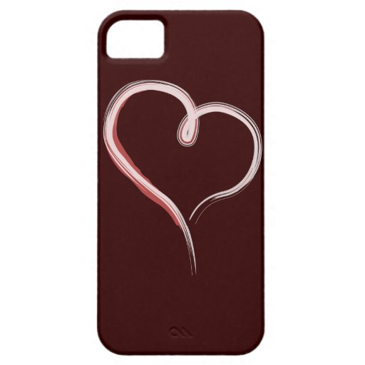 Painted heart white iphone 5 iPhone 5 case