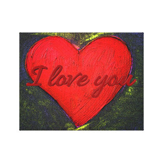 Painted Heart Wrapped Poster Gallery Wrapped Canvas