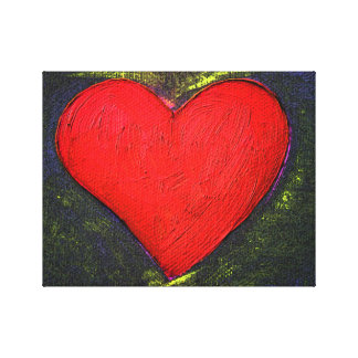 Painted Heart Wrapped Poster Canvas Print