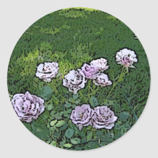Painted Heaven on Earth Rose Garden Classic Round Sticker
