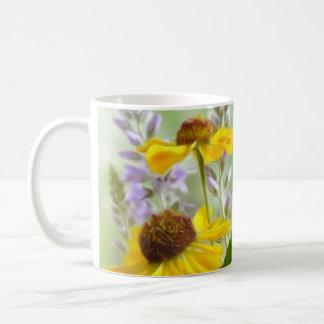 Painted Helenium Flowers Coffee Mug
