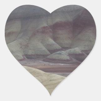 Painted Hills Heart Sticker