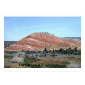 Painted Hills Mountain Nature Photo Art Design Postcard