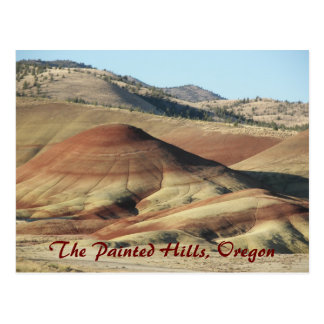 Painted Hills, Oregon Travel Postcard