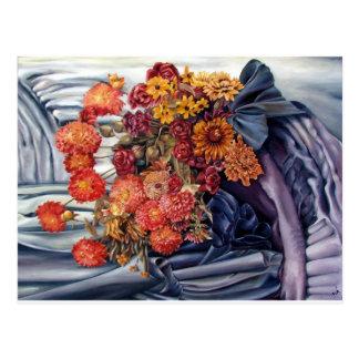 Painted Homey Flowers Postcard