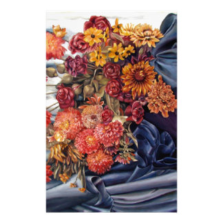 Painted Homey Flowers Stationery